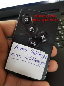 renault clio 4 kart anahtar