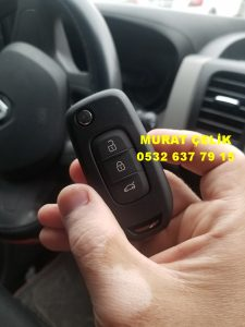 Renault Traffic sustalı yedek anahtar