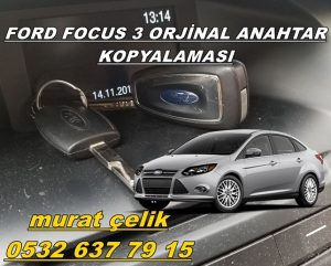 orjinal ford focus 3 anahtar