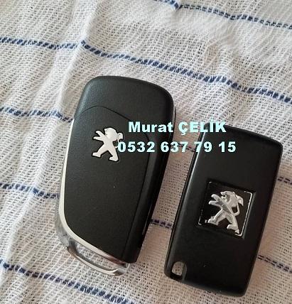 orjinal yeni tip peugeot 407 sustalı anahtar