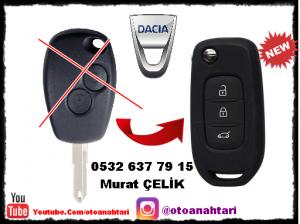 Dacia lodgy anahtar ve sustalı anahtar görseli