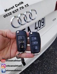 Audi A3 orjinal yedek anahtar