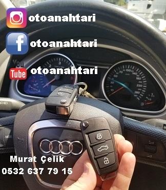 Audi Q7 yedek anahtar