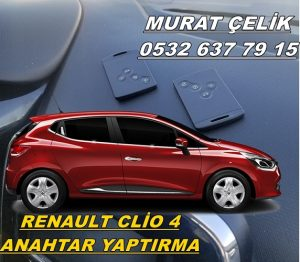 Renault clio 4 anahtar kayboldu