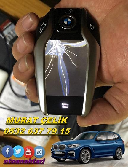 bmw x3 ekranlı anahtar tamiri