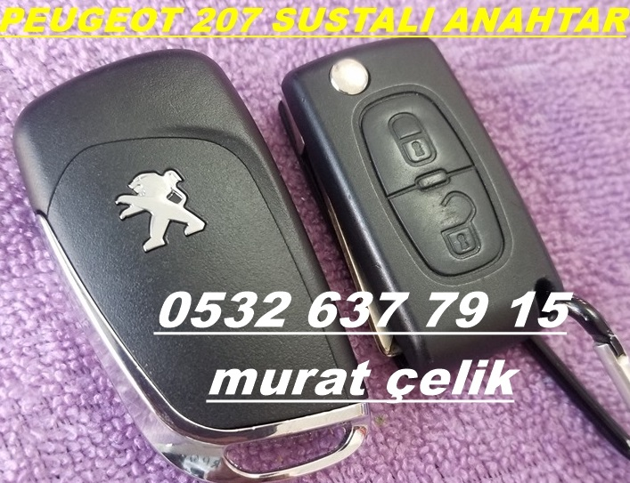 Peugeot 207 orjinal sustalı anahtar