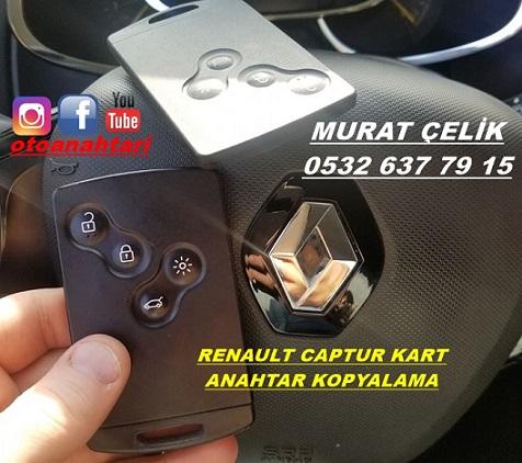 Renault Captur kart kopyalama yapıldı