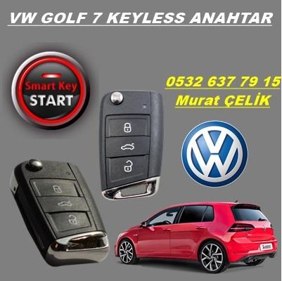 volkswagen golf 7 keyless özellikli anahtar
