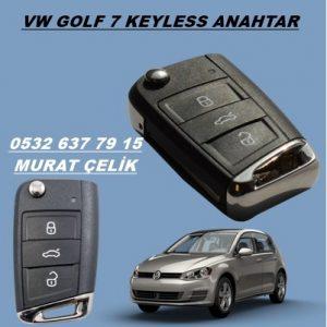 vw golf 7 keyless anahtar