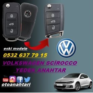 vw scirocco yedek anahtar