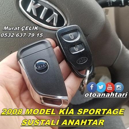 2008 model Kia Sportage için sustalı anahtar