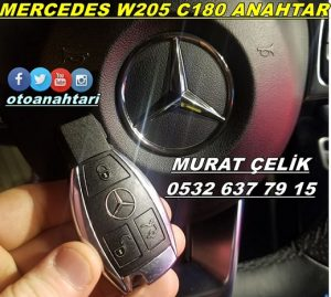 mercedes c180 w205 anahtar