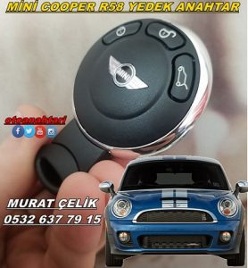 mini cooper r58 araç anahtarı