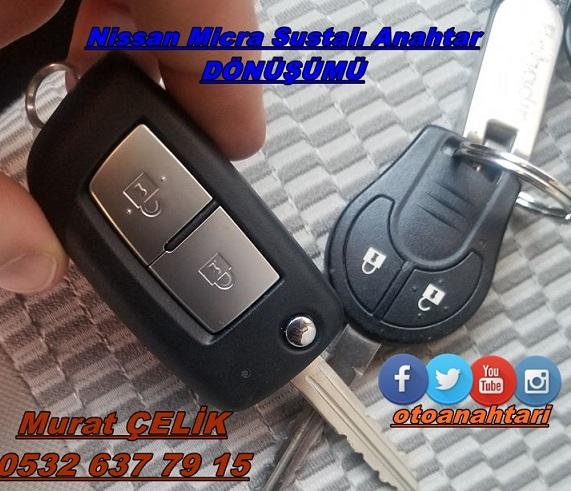 Nissan Micra Sustalı anahtar yapımı