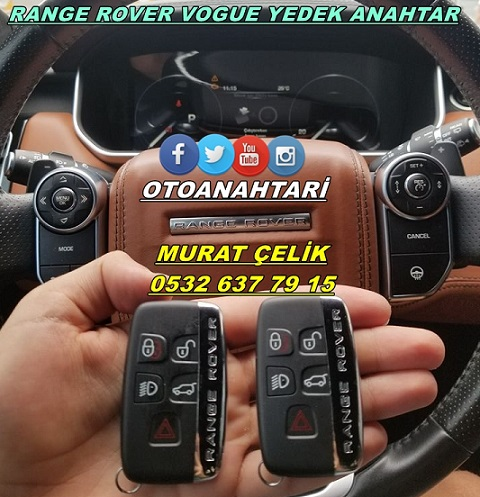 range rover vogue yedek anahtarı