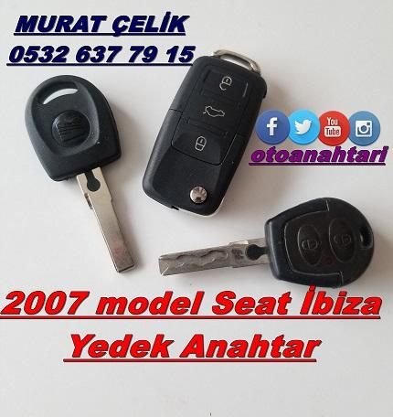 2007 model seat ibiza yedek anahtar