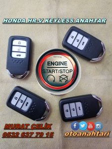 Honda Hr-v modelinin keyles anahtarı