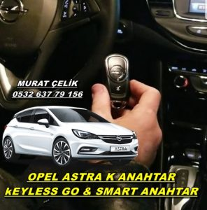 Opel astra k orjinal anahtar