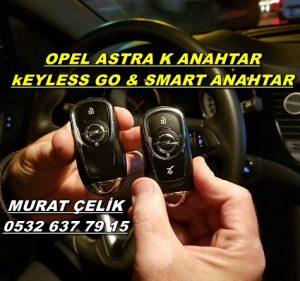 Opel astra k yedek anahtar