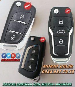Toyota corolla için sustalı anahtar