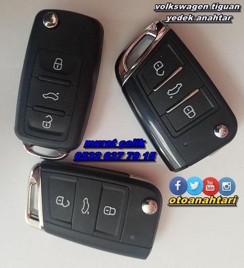 Volkswagen tiguan yedek anahtar çoğaltma
