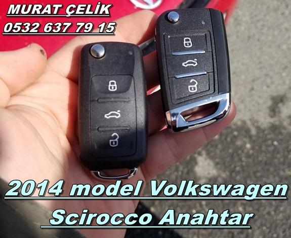volkswagen scirocco 2014 anahtar