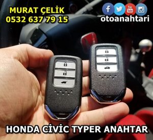 honda civic typer smart anahtar