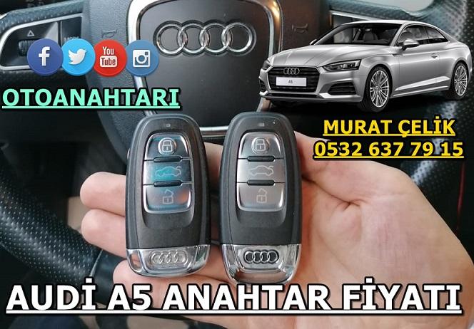 Audi A5 anahtar fiyatı