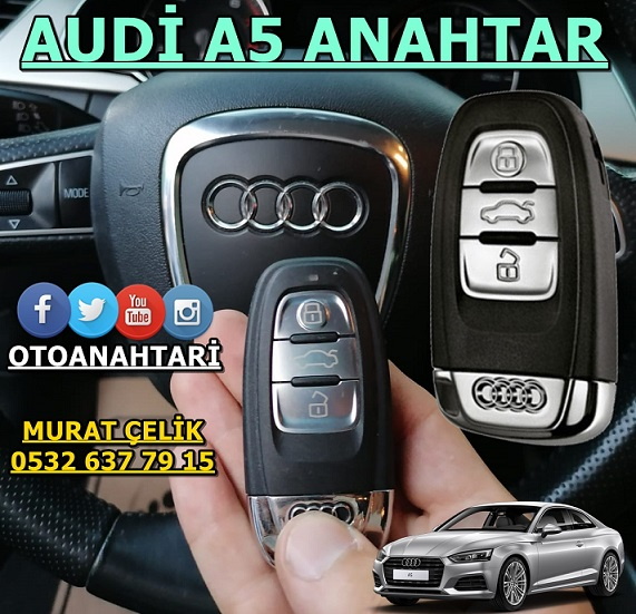 Audi a5 yedek anahtar