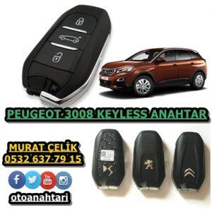 peugeot 3008 keyless go anahtarı
