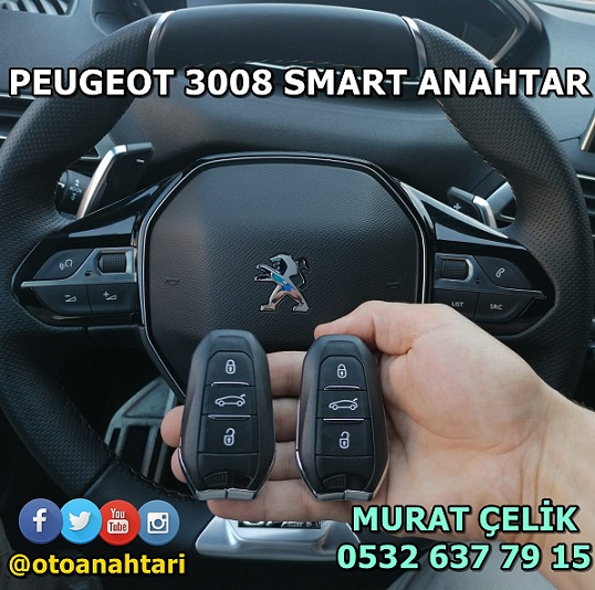 peugeot 3008 yedek anahtar