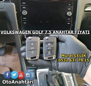 Volkswagen Golf 7.5 anahtar fiyatı