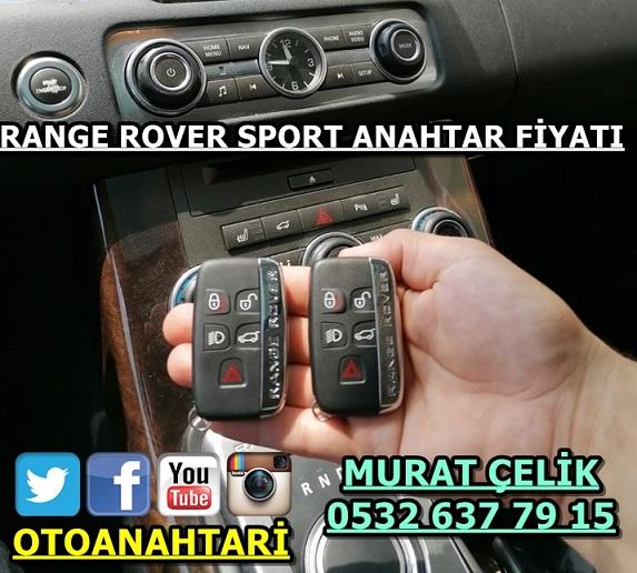 2012 Model range rover sport anahtar fiyatı