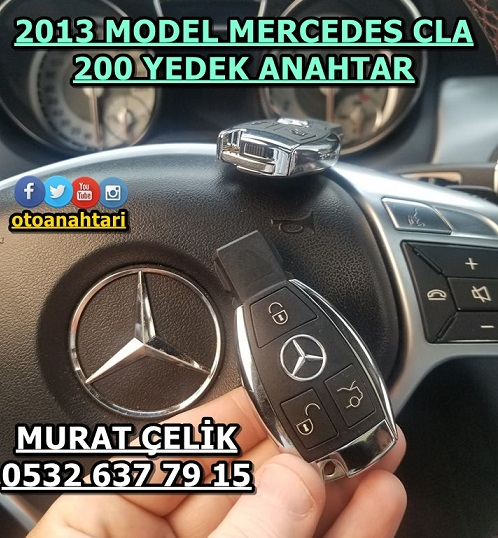 2013 model mercedes cla 200 anahtar