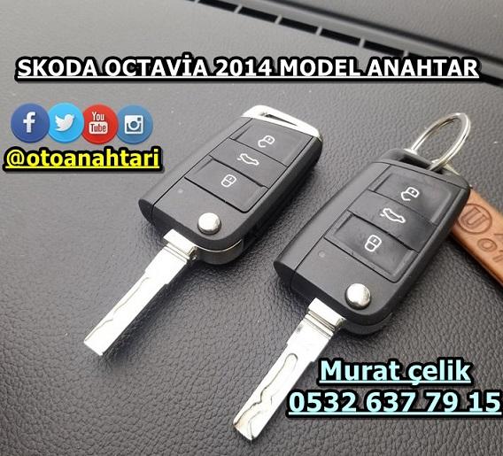 2014 model Skoda Octavia anahtar