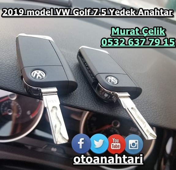Volkswagen Golf 7.5 2019 model anahtar