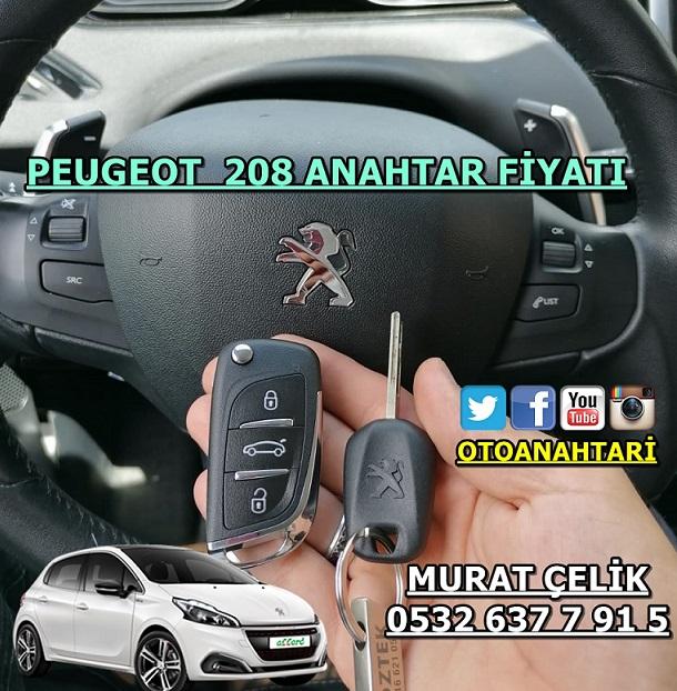 Peugeot 208 anahtar fiyatı