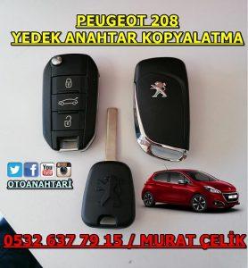 peugeot 208 yedek anahtar yaptırma