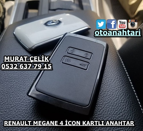 Renault megane 4 icon kartlı anahtar