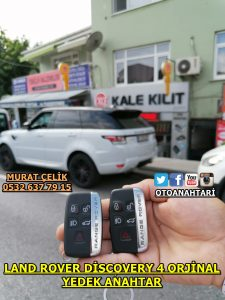 land rover discovery 4 orjinal yedek anahtar