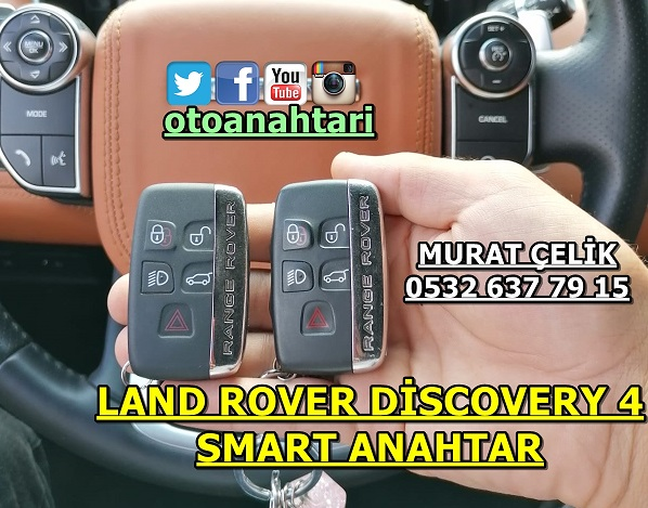 Land Rover Discovery 4 smart anahtar