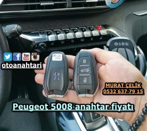 Peugeot 5008 anahtar fiyatı