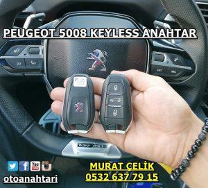 PEUGEOT 5008 keyless anahtar
