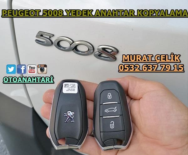 Peugeot 5008 yedek anahtar görseli