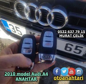 Audi A4 2010 model anahtar