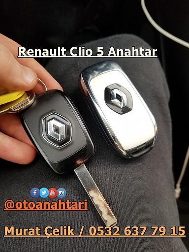 Renault Clio 5 sustalı anahtar