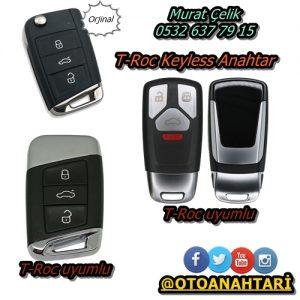 Volkswagen T-Roc Orjinal Anahtar