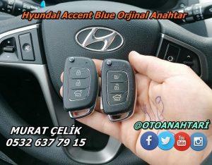 Hyundai Accent Blue Orjinal Anahtar