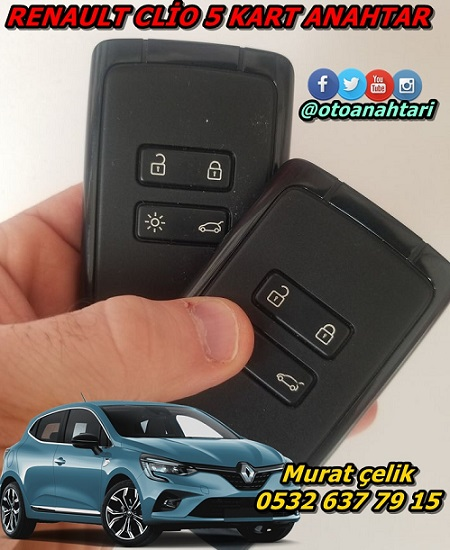 Renault Clio 5 kartlı anahtar