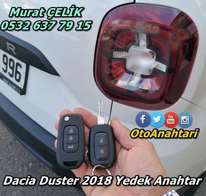 Dacia Duster 2018 yedek anahtar